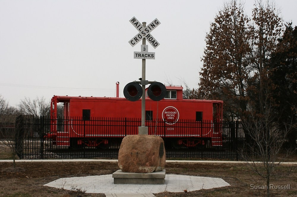 Caboose in De Soto, Missouri by Susan Russell