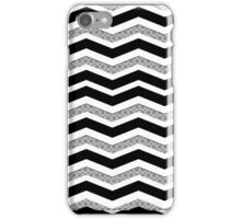 Black and white Chevron pattern iPhone Case/Skin