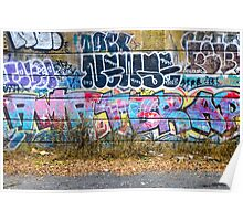 Abstract Graffiti Wall Art Photography - The Wall Poster