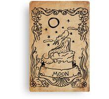 Mermaid Tarot: The Moon Canvas Print