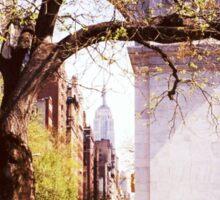 Spring In Washington Square, New York, NY Sticker