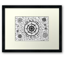 Live by the sun, love by the moon Framed Print
