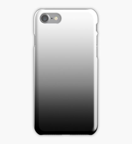 Gray Dip Dye - Black and White Ombre iPhone Case/Skin