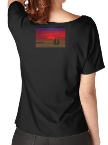 Red Boat in Sunset Women's Relaxed Fit T-Shirt