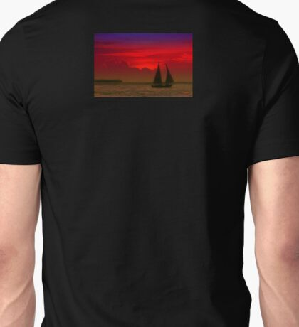 Red Boat in Sunset T-Shirt