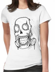 Skull Mask (Spray) Womens Fitted T-Shirt