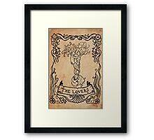 Mermaid Tarot: The Lovers Framed Print