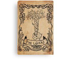 Mermaid Tarot: The Lovers Canvas Print
