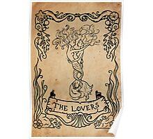Mermaid Tarot: The Lovers Poster