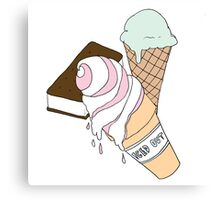 Iced Out Ice Cream Canvas Print
