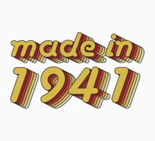 Made in 1941 (Yellow&Red) Kids Tee