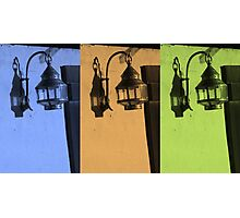 Tricolored Vintage Lamp Abstract Photographic Print