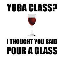 Yoga Class Glass by AmazingMart