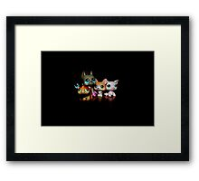 Toys in the dark Framed Print