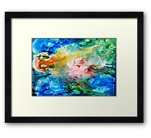 Unique colorful galaxy abstract art Framed Print