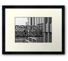 Bendy Bridge Framed Print
