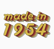Made in 1954 (Yellow&Red) Kids Tee