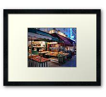 Night Market, Paris Framed Print