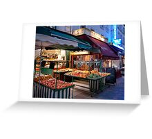 Night Market, Paris Greeting Card