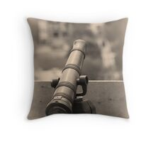 Old Cannon Shooter Throw Pillow