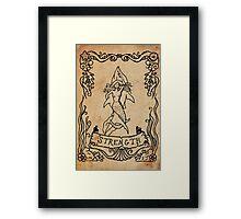Mermaid Tarot: Strength Framed Print
