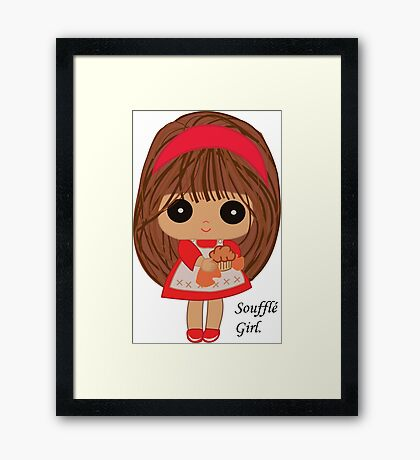 Soufflé Girl Framed Print