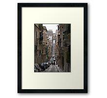 Street scene, Valletta, Malta Framed Print