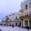 Winter evening in Yalta  by kindangel