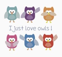 I just love owls! Kids Clothes