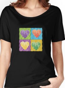 pop hearts Women's Relaxed Fit T-Shirt