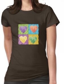 pop hearts Womens Fitted T-Shirt