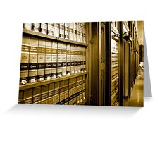 Law Book Library Greeting Card