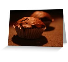 Yummy Chocolate Cupcakes Greeting Card