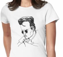 This is a Johnny Depp drawing Womens Fitted T-Shirt