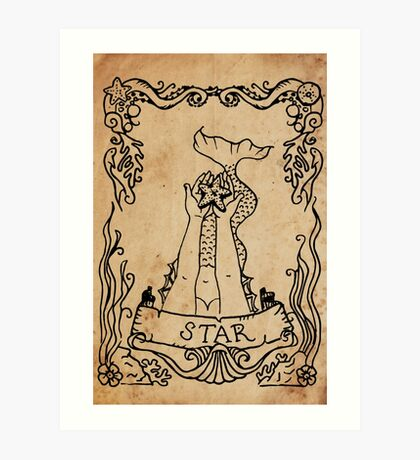 Mermaid Tarot: The Star Art Print