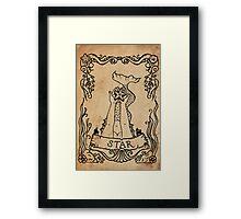 Mermaid Tarot: The Star Framed Print