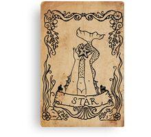 Mermaid Tarot: The Star Canvas Print