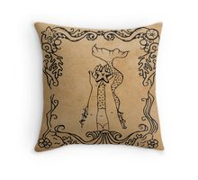 Mermaid Tarot: The Star Throw Pillow