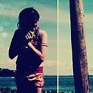 your beach, my apple by JenniferElysse