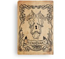 Mermaid Tarot: Hierophant Metal Print