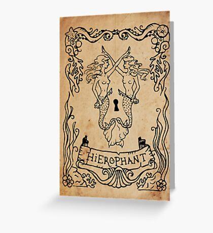 Mermaid Tarot: Hierophant Greeting Card