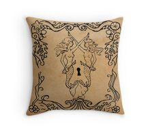 Mermaid Tarot: Hierophant Throw Pillow