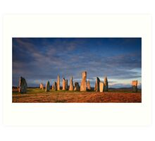 Callanish Stones (letterbox crop) Art Print