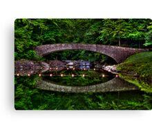 Bridge Over Still Water Canvas Print