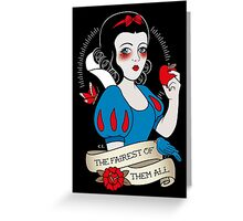 Snow White in colour Greeting Card