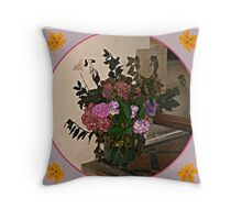 Autumn Flora Throw Pillow