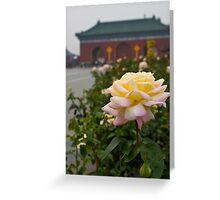 Chinese Rose Greeting Card