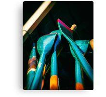 Green Oars Canvas Print