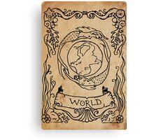 Mermaid Tarot: The World Canvas Print