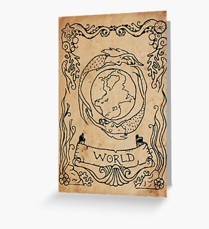 Mermaid Tarot: The World Greeting Card